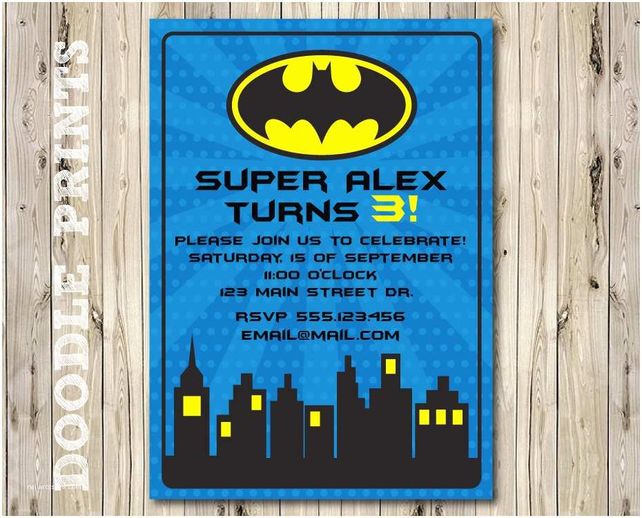 jaw dropping batman birthday party invitations