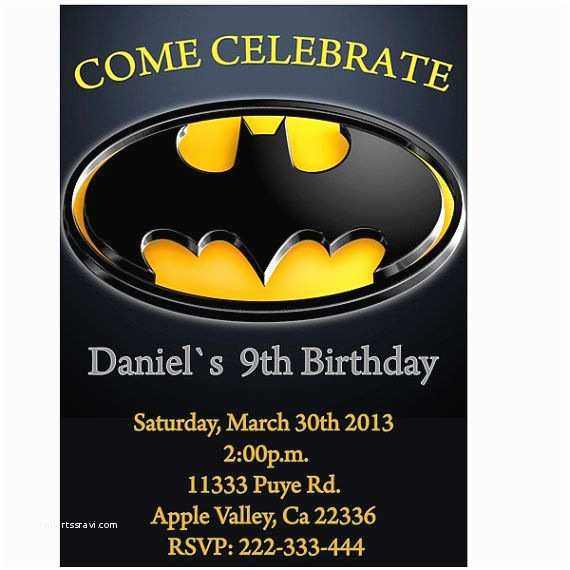 Batman Party Invitations 17 Best Images About Wholly 3rd Birthday On