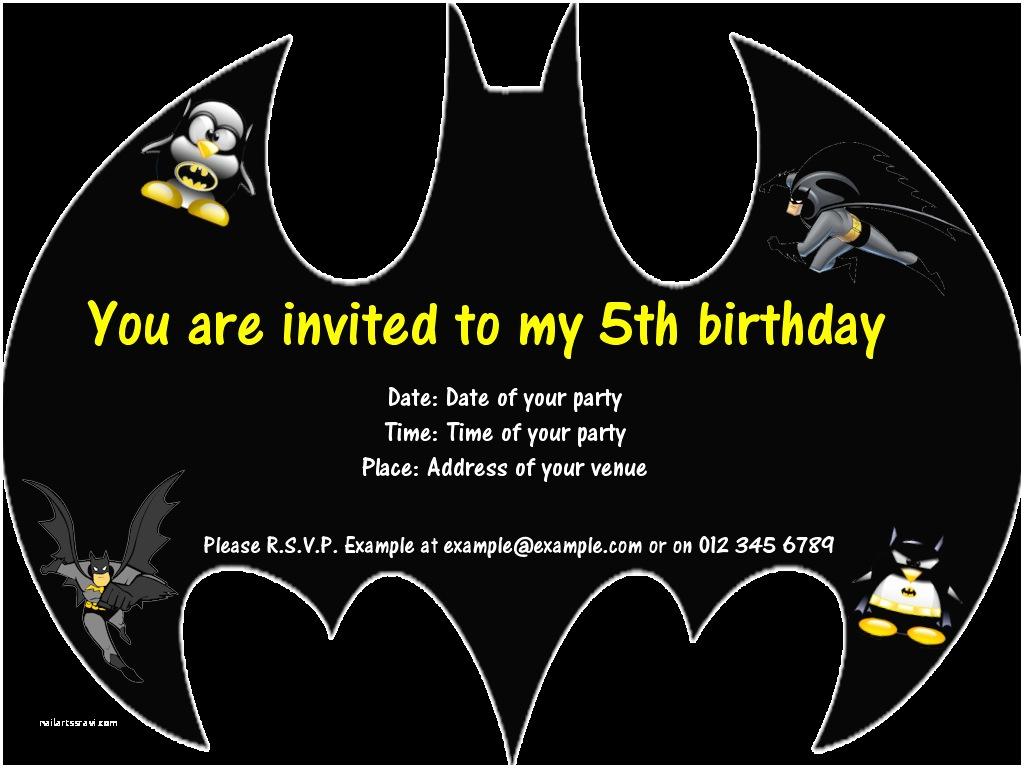 Batman Party Invitations 7 Best Of Batman Invitations Free Printables Free