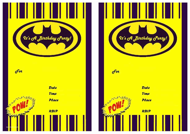 batman birthday invitations