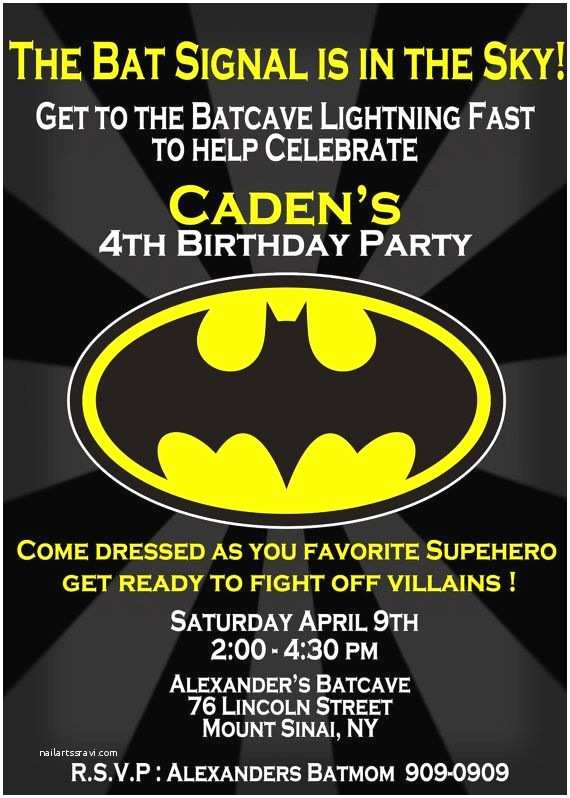 Batman Party Invitations Batman Birthday Invitation