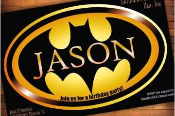 Batman Party Invitations Birthday Templates Ideas