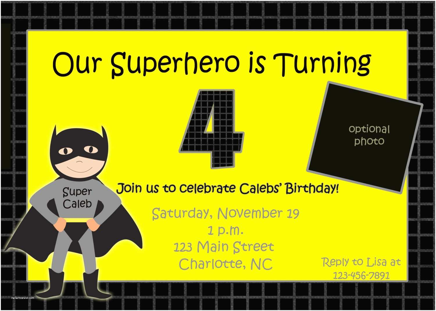 Batman Party Invitations Birthday Templates Ideas And