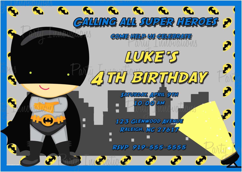 Batman Party Invitations Birthday Templates Ideas
