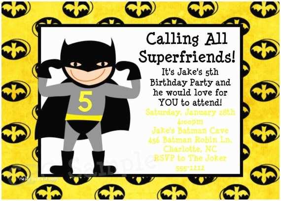 Batman Party Invitations Birthday Ideas