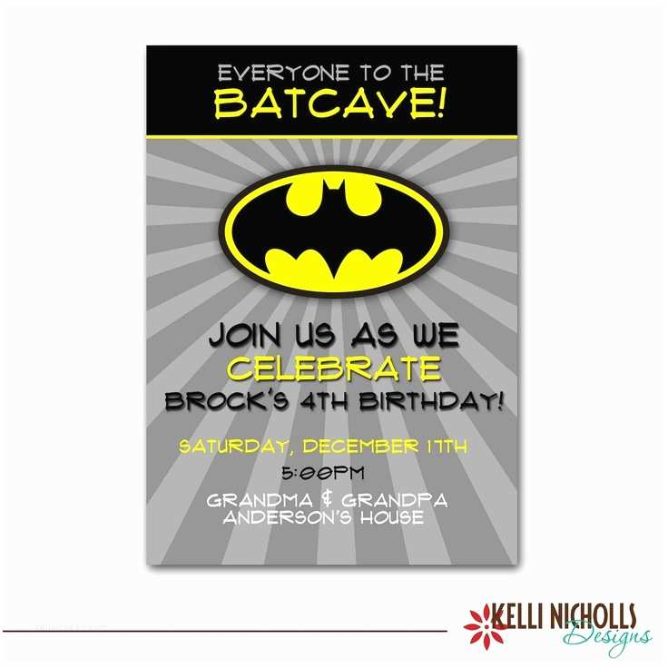 Batman Party Invitations Batman Personalized Birthday Invitations