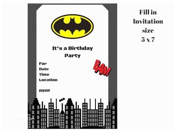 Batman Party Invitations Batman Invitation Magical Printable