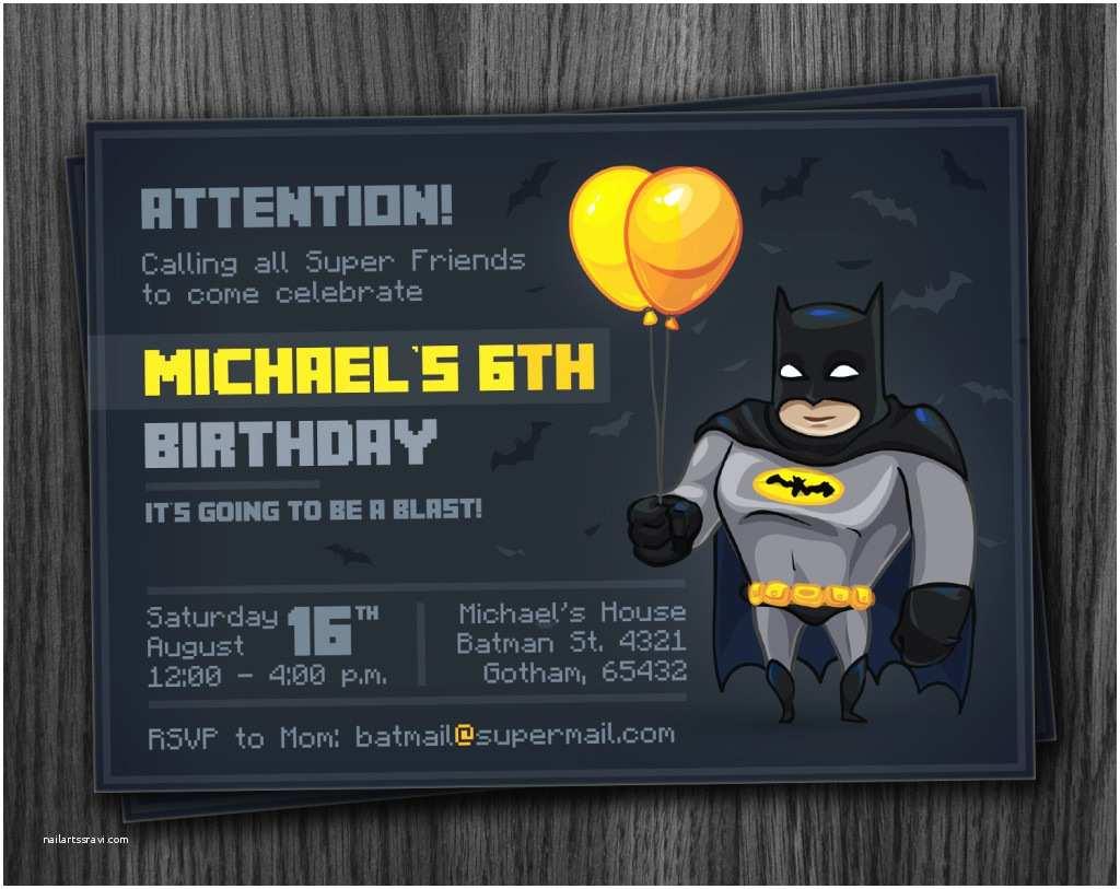 Batman Party Invitations Batman Party Invitation Printable Download