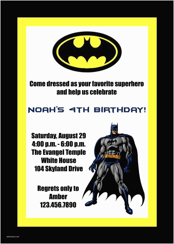 Batman Party Invitations Birthday