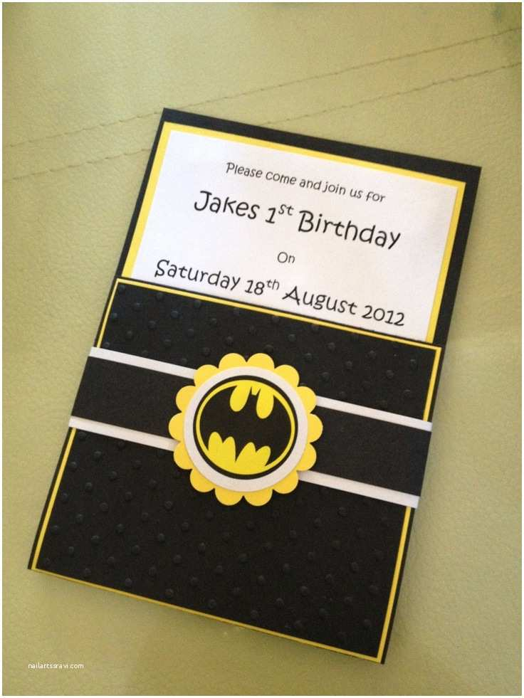 Batman Party Invitations Handmade Batman Party Invitations & Envelopes Set Of 10 £