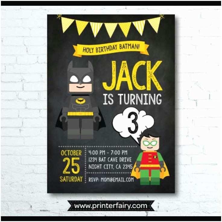 Batman Party Invitations Lego Super Cute Invites Fiesta Pinterest