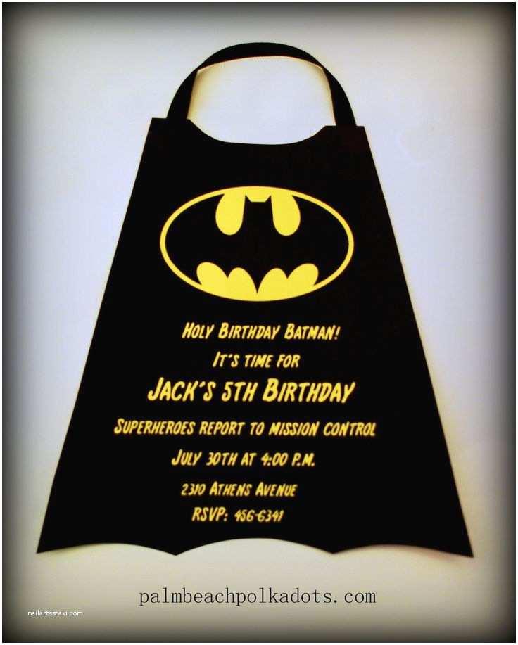Batman Party Invitations Superheroes Birthday Invitation