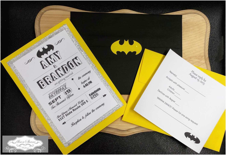 Batman Wedding Invitations Batman themed Wedding Invitations by Alisonshanecreations