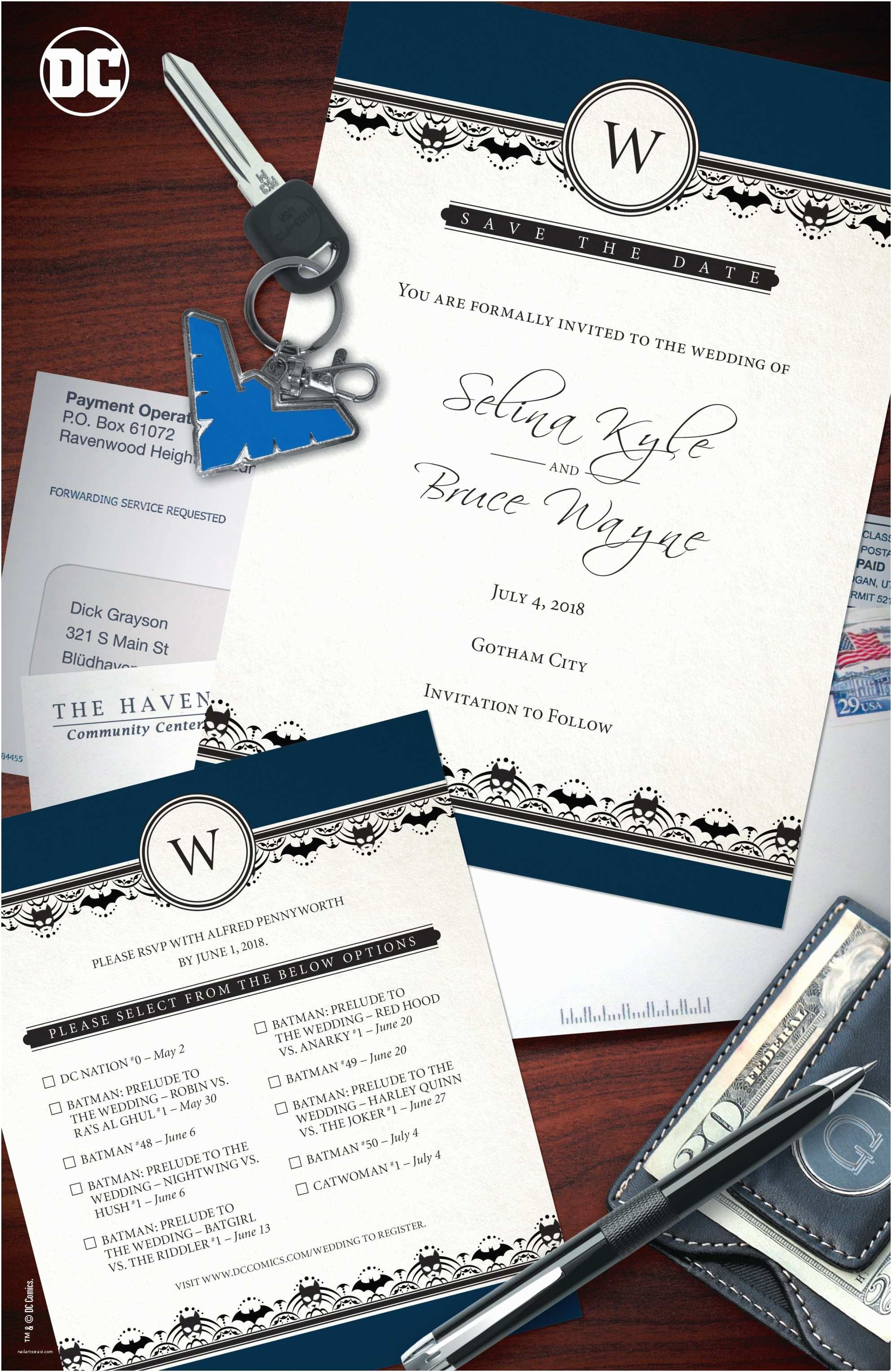 Batman Wedding Invitations Dc Ics Releases New House Ad for Batman & Catwoman