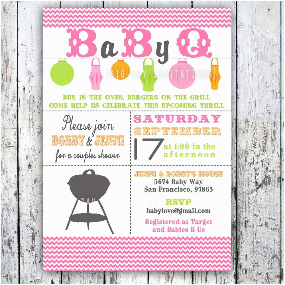 Bbq Baby Shower Invitations Baby Shower Invitation Baby Q Baby Bbq by Bigdayinvitations