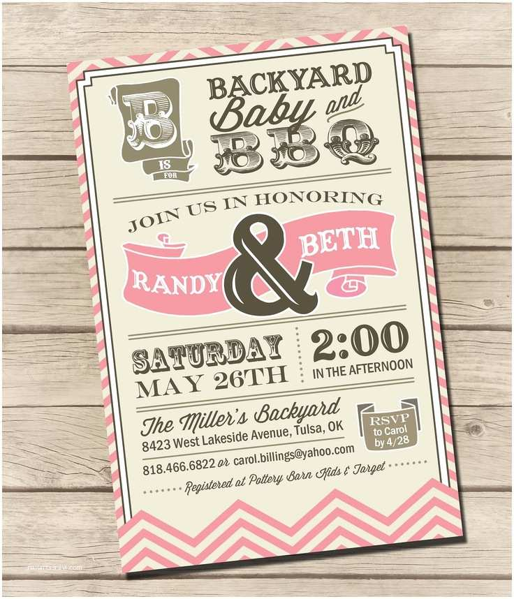 Bbq Baby Shower Invitations Printable Couples Bbq Baby Shower Invitation by