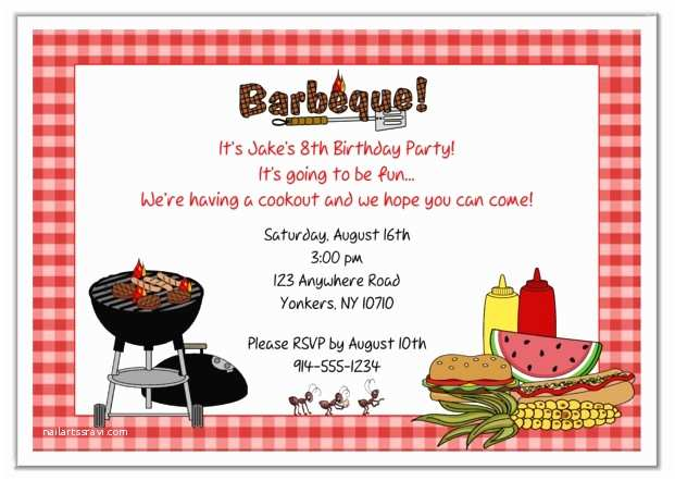 Bbq Party Invitation Bbq Barbeque Cookout Party Invitations 2