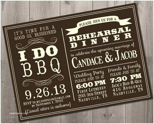 Bbq Wedding Invitations Bbq Barbecue Wedding Party Invitations