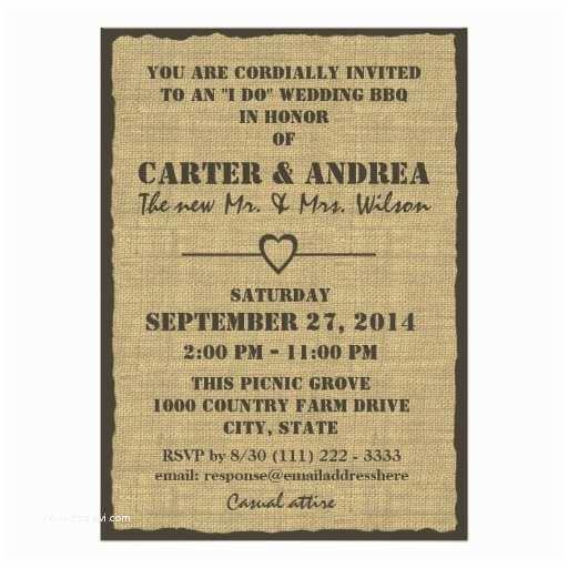 Bbq Wedding Invitations Bbq Wedding Reception Custom Invitations