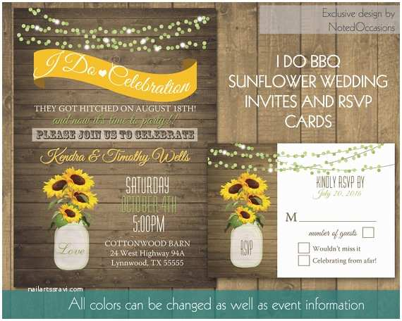 Bbq Wedding Invitations I Do Bbq Wedding Reception Invitation Printable by