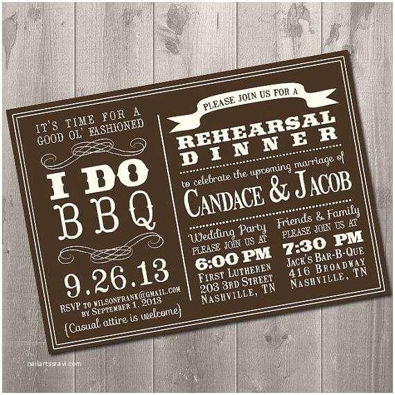 Bbq Wedding Invitations I Do Bbq Wedding Rehearsal Dinner Invitation Diy