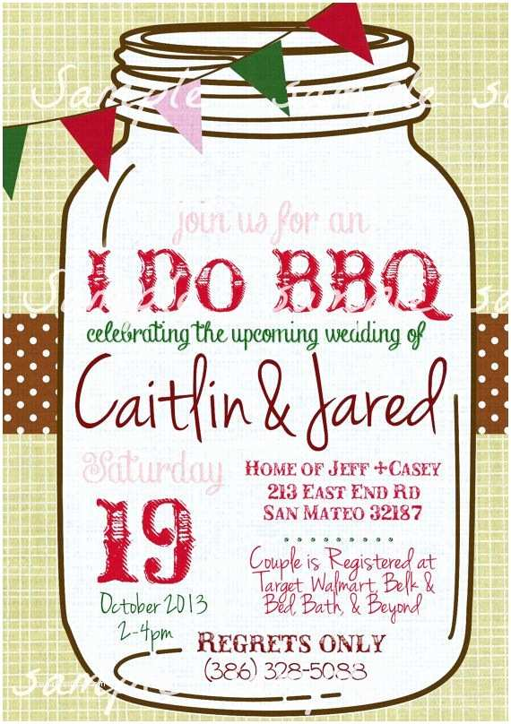 Bbq Wedding Shower Invitations 17 Best Images About I Do Bbq Invitations On Pinterest