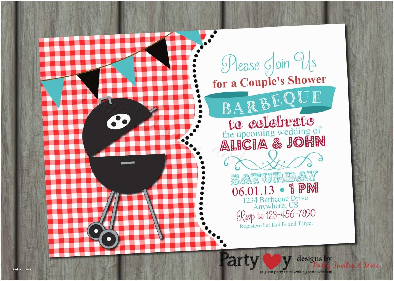 Bbq Wedding Shower Invitations Couple S Bbq Wedding Shower Invitation Digital File
