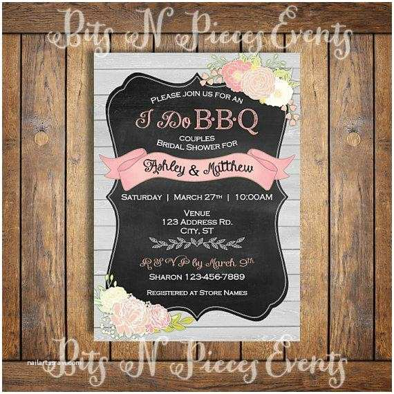 Bbq Wedding Shower Invitations I Do Barbeque Couples Bridal Shower Invitation Bbq Barn