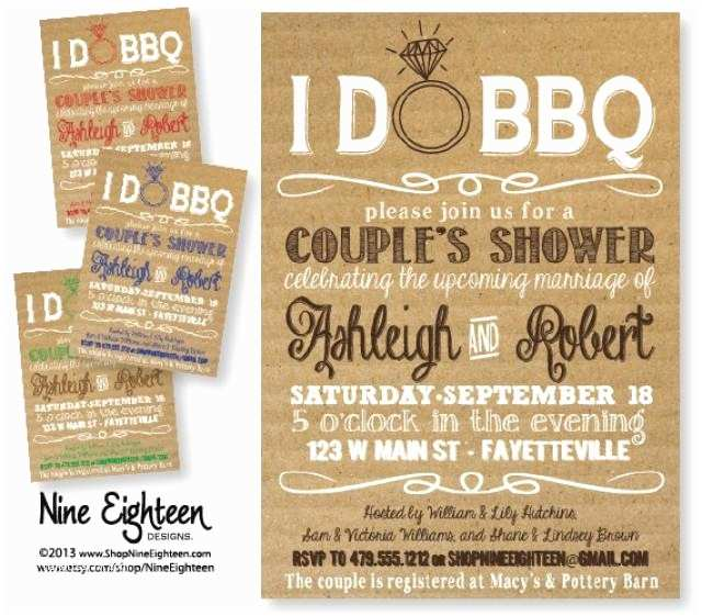 Bbq Wedding Shower Invitations I Do Bbq Couples Shower Barbeque Bridal Shower Custom