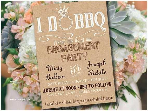 Bbq Wedding Shower Invitations I Do Bbq Engagement Party Invitation Template Kraft Wedding