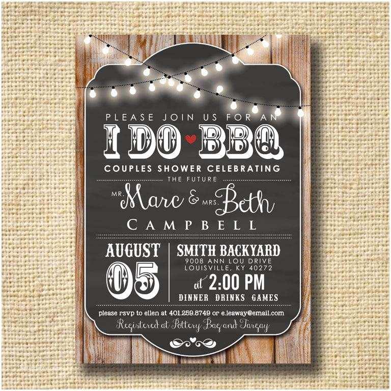 Bbq Wedding Shower Invitations I Do Bbq Invitation Engagement Party Invite Couples Shower