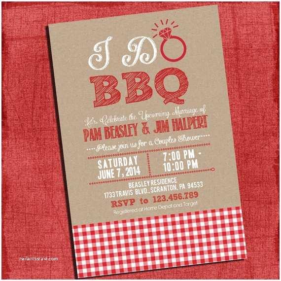 "Bbq Wedding Shower Invitations Printable ""i Do"" Bbq Barbecue Couples Coed Wedding Shower"