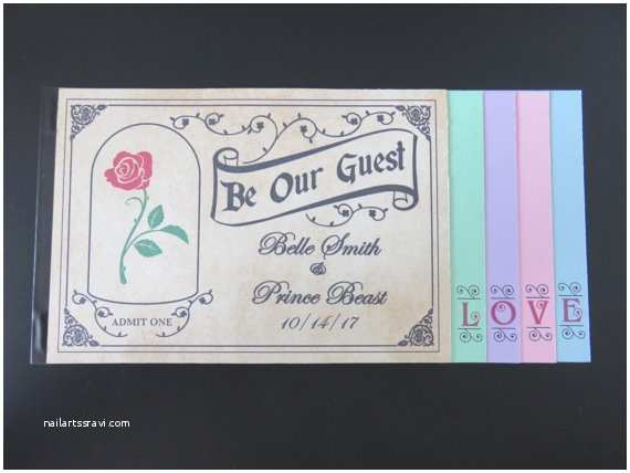 Be Our Guest Wedding Invitations Be Our Guest 5 Page Ticket Wedding Invitation by