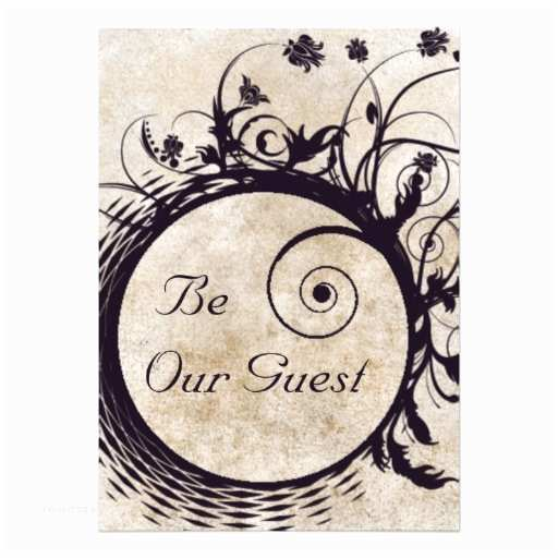 """Be Our Guest Wedding Invitations Be Our Guest Wedding Invitation 5"""" X 7"""" Invitation Card"""