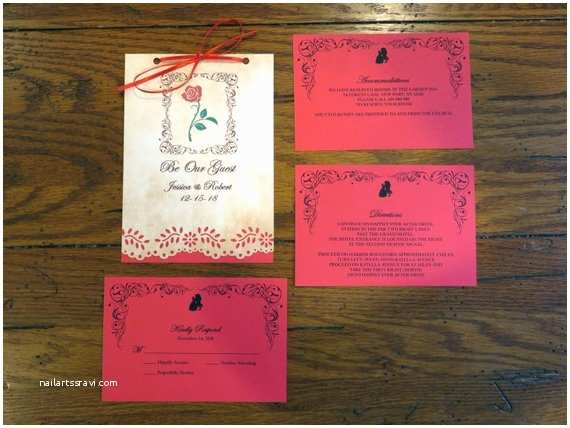 Be Our Guest Wedding Invitations Be Our Guest Wedding Invitation Booklet 5 by 7