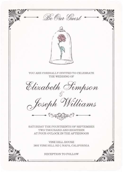 Be Our Guest Wedding Invitations Be Our Guest Zazzle S Disney Wedding Collection Zazzle Blog