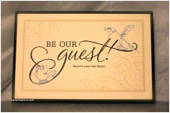 Be Our Guest Wedding Invitations Beauty and the Beast Wedding Weddingbee