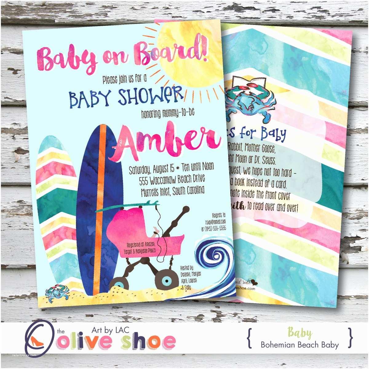 Beach Baby Shower Invitations Beach Baby Shower Invitations