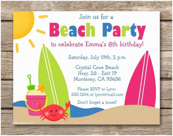 Beach Birthday Invitations 21 Beach Party Invitation Designs Psd Vector Eps Jpg