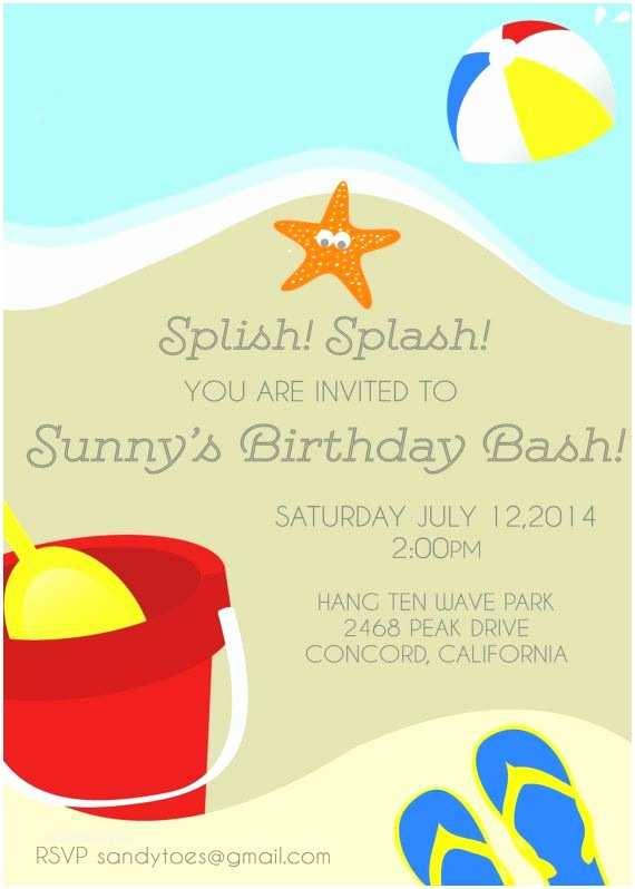 Beach Birthday Invitations 25 Best Ideas About Beach Party Invitations On Pinterest