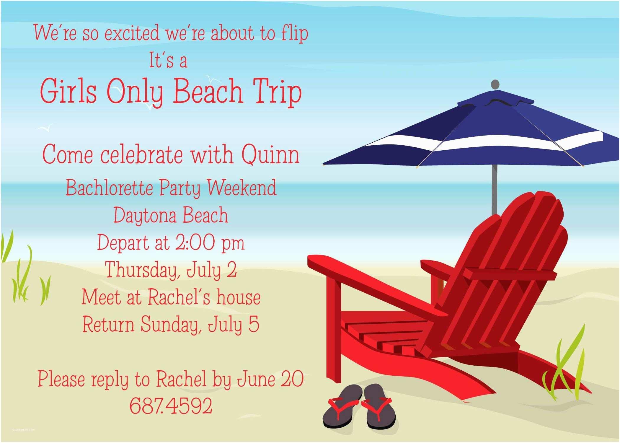 Beach Birthday Invitations Beach Party Invitation Card and Invitation Ideas