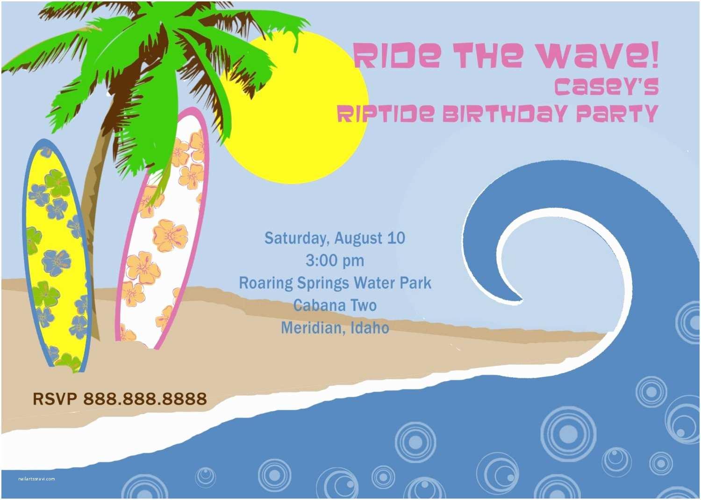 Beach Birthday Invitations Beach themed Birthday Invitations