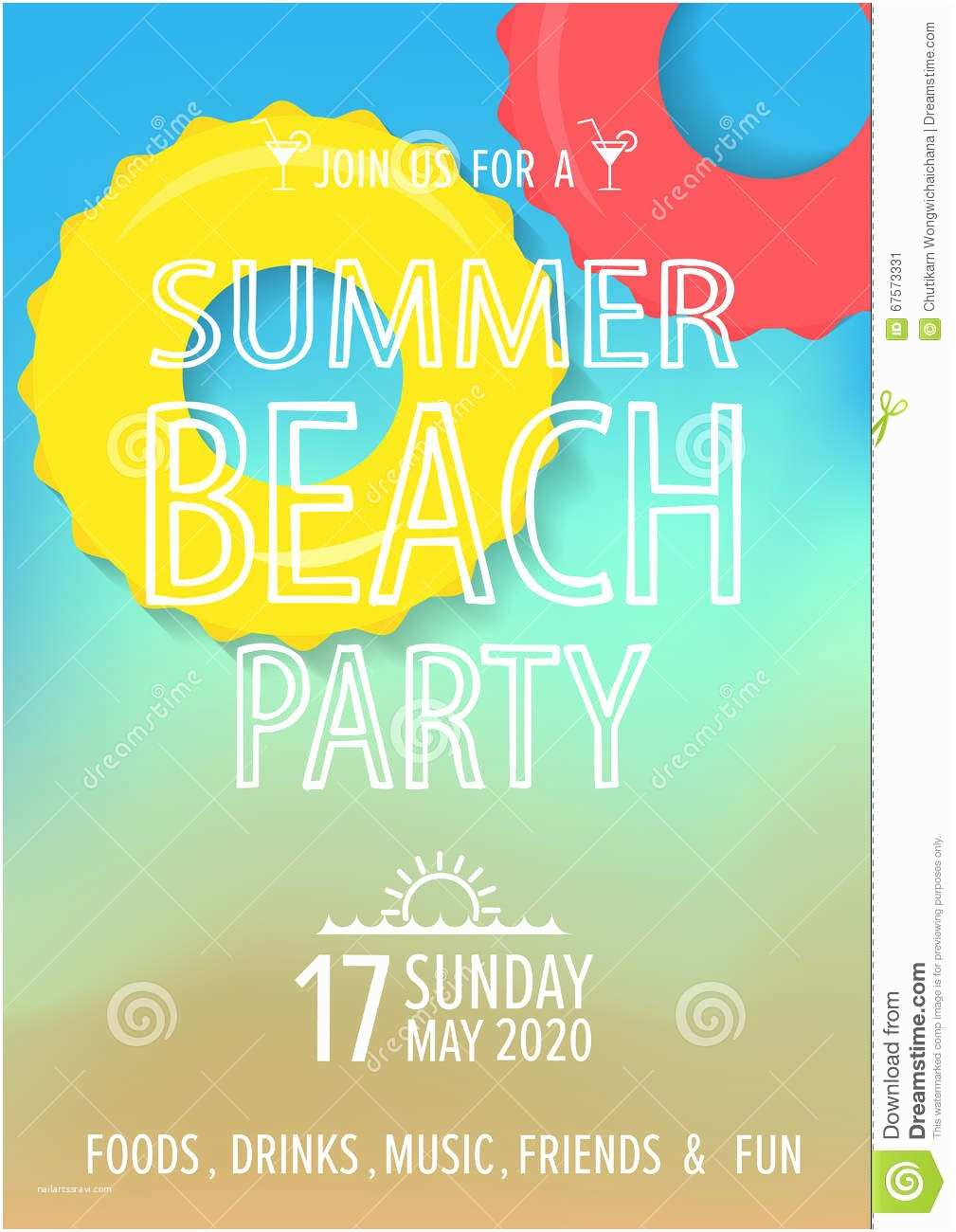 Beach Party Invitations Create Easy Beach Party Invitations Templates Designs