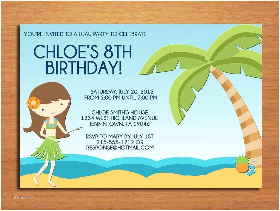 Beach Party Invitations Stirring Beach Birthday Party Invitations