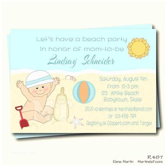 Beach theme Baby Shower Invitations Beach Baby Shower Invitation Summer Baby Shower Invite Beach