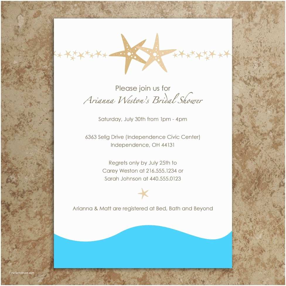 Beach theme Baby Shower Invitations Bridal Shower Invitations Bridal Shower Invitations Beach