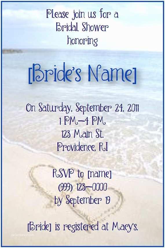 Beach theme Bridal Shower Invitations Beach Bridal Shower Invitations by Alwaystheoccasion On Etsy