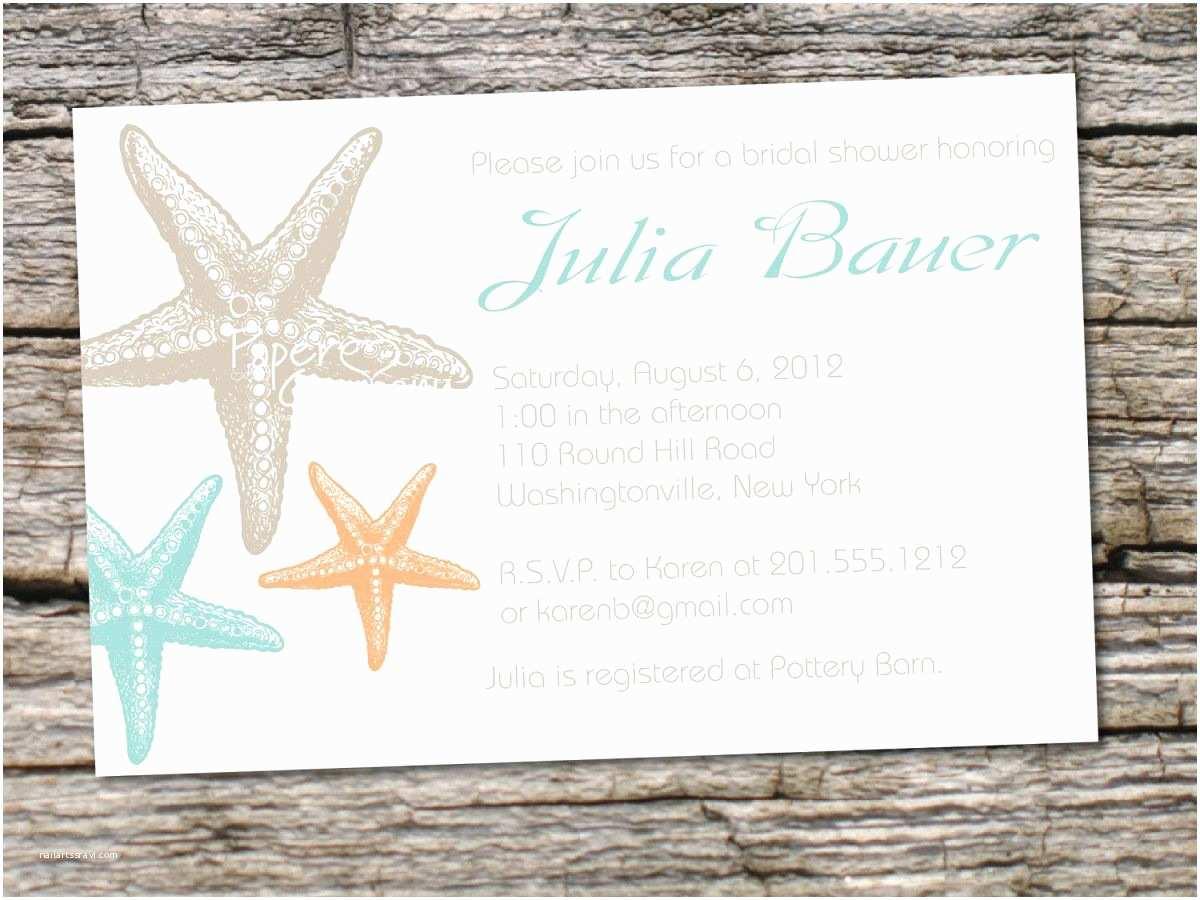 Beach theme Bridal Shower Invitations Beach Party Beach theme Invitations Card Invitation
