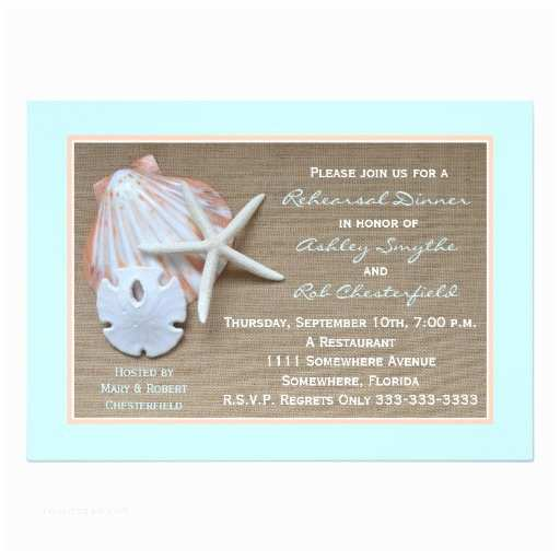 Beach theme Bridal Shower Invitations Beach theme Rehearsal Dinner Invitation