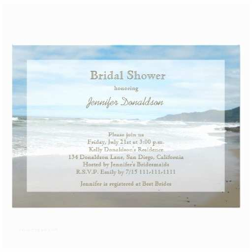 Beach theme Bridal Shower Invitations Beach themed Bridal Shower Invitations
